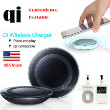 US Local Selling Qi Wireless Fast Charger Charging Pad For Samsung Mobile Phones