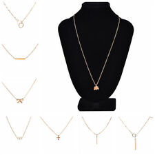Women Gold Plated Angel Wings Pendant Clavicle Chain Necklace Jewelry Retro HF