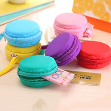 Lady Purse Macaron Silicone Waterproof Wallet Pouch Coin Bag Lovely Xmas Gift SD