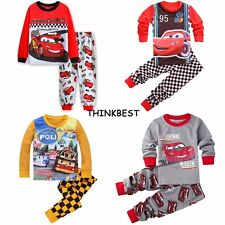 Cars Lightning McQueen Kids Toddler Baby Boys Pajamas Pjs Sets Clothes 2T-7T