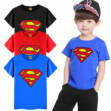 Kids Toddler Boys Superman T-Shirts Short Sleeve Casual Tees Top Blouse Clothing