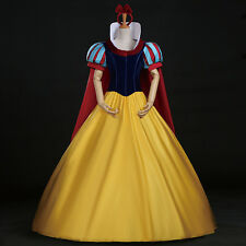 Disney Snow White Cosplay Costume Halloween Party Snow White Princess Dress