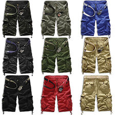 Mens Shorts Cargo Camo Combat Military Army Casual Work Pants Loose Trousers New