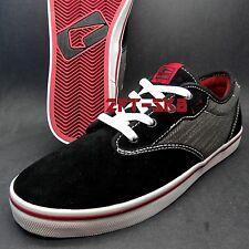 GLOBE MOTLEY BLACK RED MENS SIZE 11 SKATE SKATEBOARD BMX SHOES S6B20.53