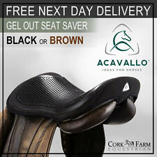 Acavallo GEL OUT CUSHION RIDE Seat Saver BLACK/BROWN Saddle Security ShockAbsorb