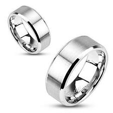 NEW Stainless Steel Brushed Flat Band 6MM All Sizes Available Size 8 Ring