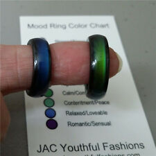 Fashion 1 PC Hematite Titanium Steel Rings Discoloration Rainbow Colorful Ring