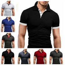Men's Slim Fit Casual Polo Shirt Short Sleeve Shirt T-Shirt Tee Tops New Fashion