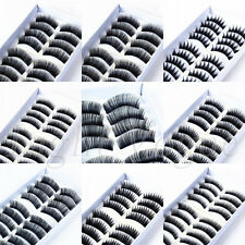 10 Pairs Handmade Natural Long Cross Thick False Eyelashes Fake Eye Lashes New f