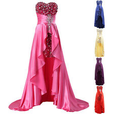 Short Long Evening Formal Party Cocktail Dress Bridesmaid Prom Gown Masquerade