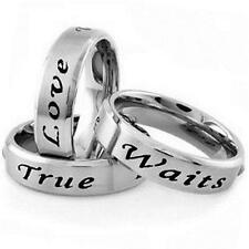 NEW Stainless Steel TRUE LOVE WAITS Promise Purity All Sizes 5-13 Size 13 Ring