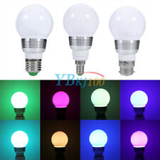 3W/10W E27/E14/B22 RGB LED Light Color Changing Lamp Bulb+Remote Control 85-265V