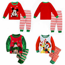 Christmas Baby Boys Girls Kids Mickey Mouse Clothes Pajamas Sleepwear Outfit Set