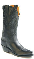 Old West Black Womens All Leather 12in Snip Toe Cowboy Western Boots