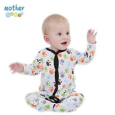 0-12 M Newborn Baby Boy Girl Clothes Long Sleeve Cartoon Jumpsuit Romper