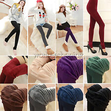 Women Thick Warm Fleece Lined Thermal Stretch Pants Slim Skinny Tights Pantyhose