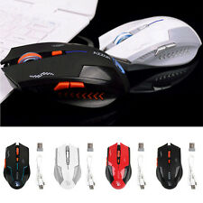 2.4GHz 2400DPI Rechargeable 6 Buttons Optical Pro Gaming Mouse Wireless Mice