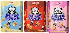 MEIJI Family Pack Hello Panda Cream Cookie (Chocolate, Strawberry, Milk) - 9.1oz