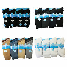 New Mens 100% Cotton Formal Work Office Socks Seam Free Toe 6prs Size Uk 6-11