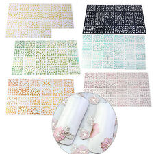24 Sheets 3D Design Nail Art Sticker Tips Decal Flower Manicure Stickers DIY Kit