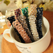 Fancy Women Crystal Flower Barrette Plum Floral Rhinestone Hair Clips Hair Pin