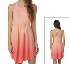 Peach Pink Dip Dye Sundress Roxy Sleeveless Ombré Racerback Dress XS S M L NWT