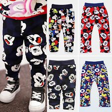 Toddler Baby Boys Girls Cute Mickey Mouse Long Pants Trousers Tracksuits Bottoms