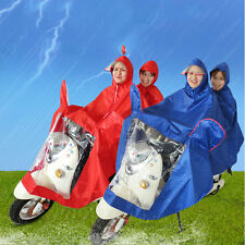 Waterproof Motorcycle Double-Person Raincoat Poncho Adult Hooded Raincoat#X