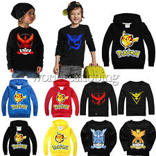 Kids Baby Boys Girls Long Sleeve Casual Sweatshirt T-Shirt Hoodie Pokemon Tops