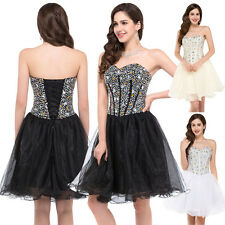Women Formal Bridal Prom Gown Cocktail Wedding Party Evening Princess Dress