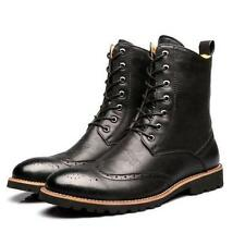 Mens oxford Brogue Wing tip carving lace up mid calf Boots chukka Shoes chelsea