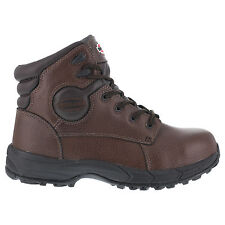 Iron Age Mens Brown Leather 6in Sport Boots Ground Finish Steel Toe