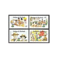 Antigua 881-884,MNH.Michel 885-888 Girl Guides-75,1985.Baden-Powell.Flowers.