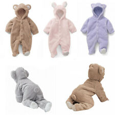 Newborn Baby Boy Girl Infant  Romper Jumpsuit Bodysuit Hooded Clothes Outfit Hot