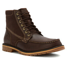 Timberland A12HC Grantly Lace Mens Dark Brown Full-grain and Suede Leather Boots