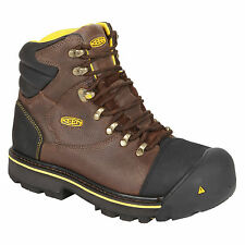 New KEEN Men's Milwaukee WP Boots Steel Toe Work Safety Brown Shoes Hiking $175