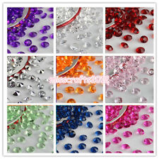 1000pcs 6.5mm 1ct Acrylic Diamond Confetti Wedding Party Table Scatters Crystals