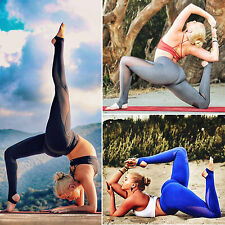 Womens Slim Mesh Leggings Running Yoga Sports Fitness Gym Workout Stretch Pants