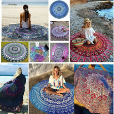 Bohemian Round Hippie Tapestry Beach Throw Roundie Indian Mandala Towel Yoga Mat