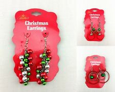 Fashion Jewelry Christmas Earrings Xmas Women Drop Dangle Earrings Red Green