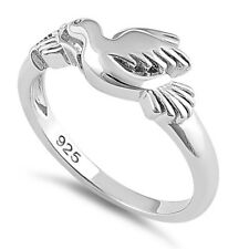 HuntForDeals Sterling Silver Flying Dove Ring Free Shipping
