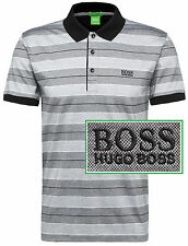 NWT Hugo Boss Green Label by Hugo Boss LOGO Striped  Modern Fit Polo Shirt