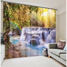 Rocks and waterfall design 3d digital Blackout curtains
