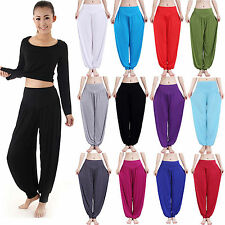 Womens Causal Harem Genie Aladdin Gypsy Dance Yoga Pants Sports Baggy Trousers