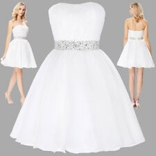 Women Sweart Short Dress Evening Party Cocktail Bridesmaid Wedding Prom Dress