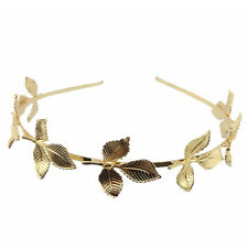 Women Ladies Elegant Leaf Head Chain Jewelry Headband Head Piece Hair Band