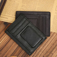 Men Faux Leather Money Clip Wallet Credit Card ID Holder Business Pocket Showy