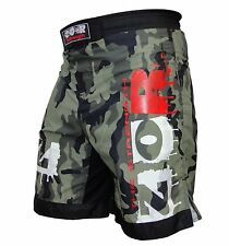 Camo Pro MMA Fight Shorts Camouflage UFC Cage Fight Grappling Muay Thai