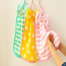 1 PCS Bowknot Hanging Towel Superabsorbent Dry Hands Kitchen Cloth Commodity