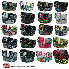 40mm Cheap Quality Printed Plenty Designs Mens Womens Removable Buckle Belt